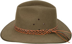 #835 Two Tone Hat Band (Natural Tan Edge)