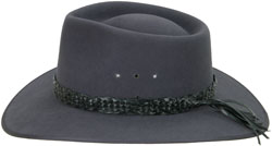 Fancy Edge Hat Band, hand braided kangaroo leather