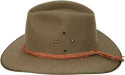 #859 Ridge Hat Band, hand braided kangaroo leather